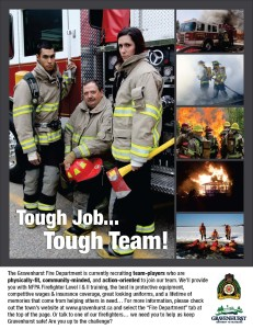 Firefighter Recruiting Poster