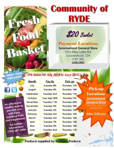 Fresh Food Basket Ryde 2014-2015